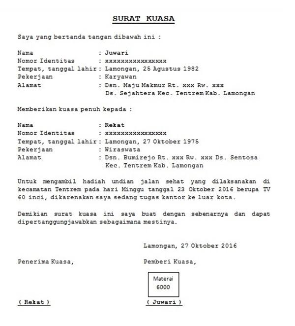 Surat Wakil Ambil Barang